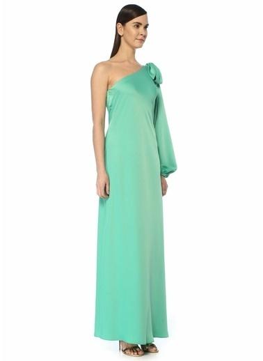 Beymen Collection Beymen Collection  Omzu Fiyonklu Tek Kol Maksi Elbise 101455679 Turkuaz